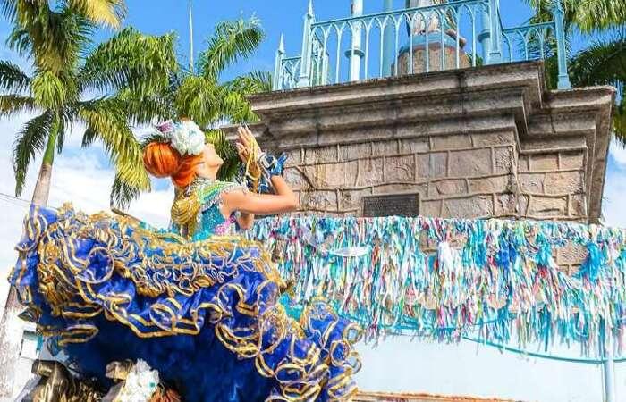 A Rainha G 2020 utilizou o Santuário do Morro da Conceição como cenário para o clipe vencedor.  (Foto: Divulgação/Cenário Filmes)