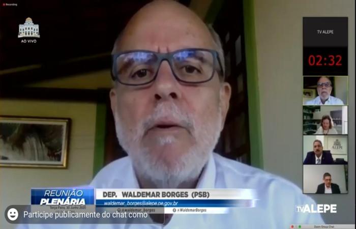 (Deputado Waldemar Borges, presidente da Comissão de Justiça. Foto: Divulgação)