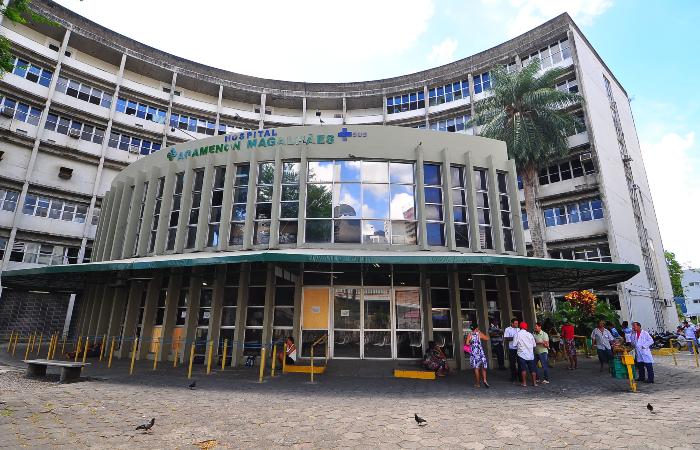 Hospital fica no bairro de Casa Amarela, Zona Norte do Recife.  (Foto: Júlio Jacobina/Arquivo DP.)