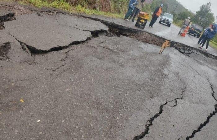 Rodovias também foram prejudicadas pelo temporal (Foto: Reprodução)