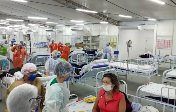 Cem dias após abertura do primeiro hospital de campanha, PCR também chegou a marca de mais de 12 mil atendimentos realizados. (Foto: Cortesia.)