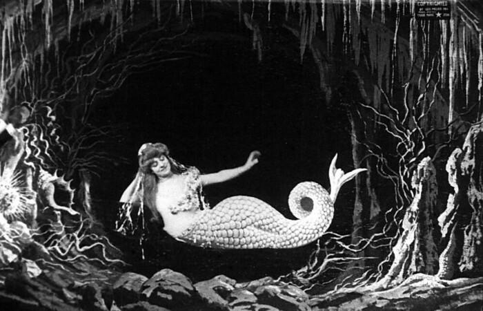 O primeiro filme postado pelo projeto foi A sereia, um curta francês de 1904 de Georges Méliès. (Foto: Reprodução)