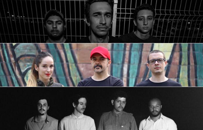 Rock encontra renovação em novas bandas independentes do Recife. (Foto: Divulgação/João Augusto/Sophia Lautert)