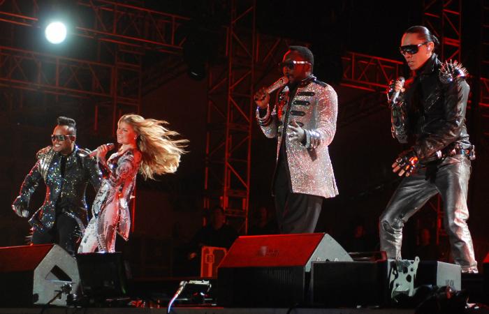 Black Eyed Peas, ainda com Fergie, durante show no Jockey Club, no Recife (Foto: Cecilia de Sa Pereira/DP/D.A Press)