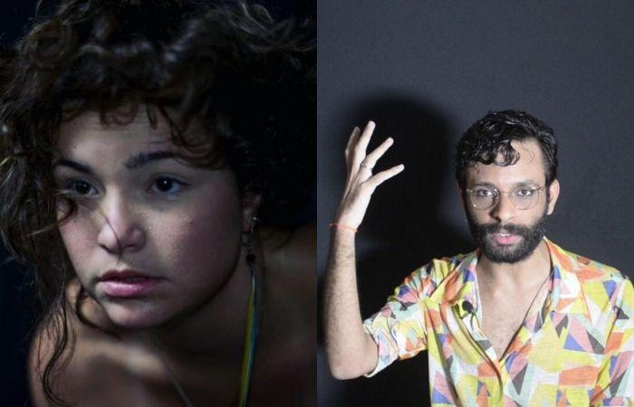 Hermínia Mendes e membro do grupo pernambucano Teatro de Fronteira (Foto: Rodrigo Alves e Rodrigo Dourado/Divulgação)