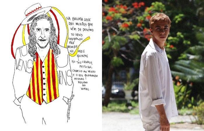 Alceu Valença é um dos personagens favoritos de Matheus Miguel, 17 (Foto: Amanda Luz/Divulgação)