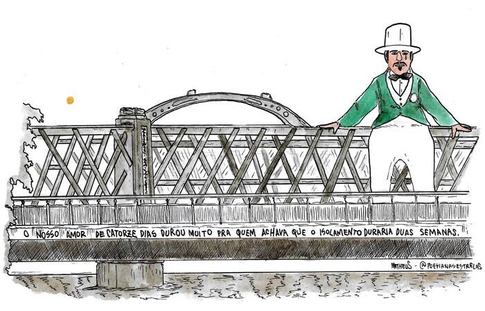 Ponte da Boa Vista com Homem da Meia-Noite (Foto: @poesianasestrelas/Divulgação)