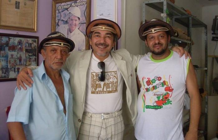 Mestre Aprígio, Santanna, o Cantador e Romildo Aprígio (Foto: Cortesia)