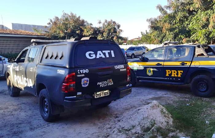 Operação foi realizada nessa quinta-feira (30) e localizou grávida sequestrada. (Foto: Divulgação/PRF.)