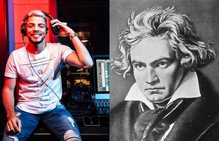 JS Mão de Ouro e Ludwig van Beethoven (Foto: Instagram/Reprodução e Internet/Reprodução)