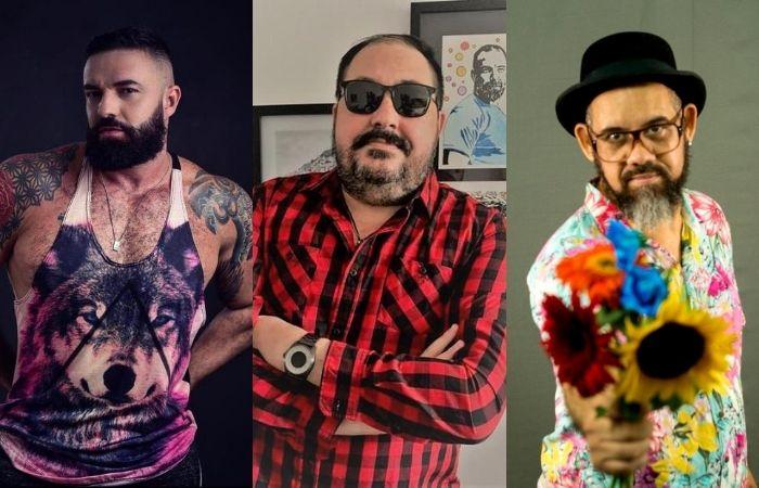 DJ Miltexx, Fred Queiroz e DJ Incidental, da esquerda à direita. (Foto: Divulgação e Se Pa Produtora/Divulgação)