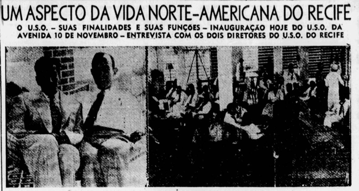Matéria sobre a inauguração do U.S.O Town Club (Foto: Acervo DP)