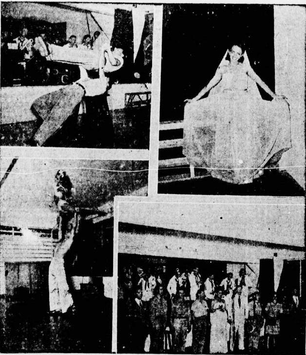 Noite de canções, acrobacias e bailados no Town Club, em 27 de agosto de 1944 (Foto: Acervo DP)