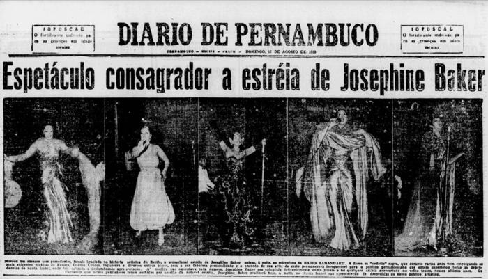 Capa com cobertura do show, em 18 de agosto de 1952 (Foto: Acervo DP)