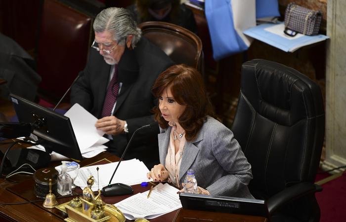 A sessão foi presidida pela vice-presidente Cristina Kirchner (Foto: Ronaldo Schemidt/AFP)