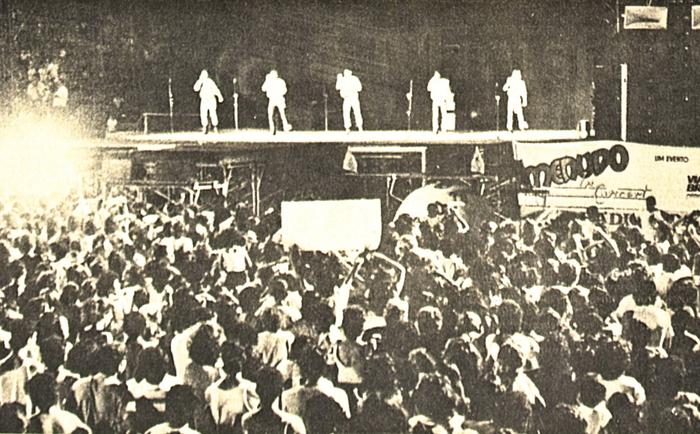 Registro do show no Arruda, Zona Norte do Recife (Foto: Arquivo DP)