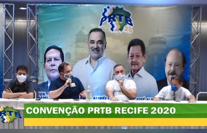 PRTB fez convenção na manhã desta segunda-feira (31) (Foto: Reprodução / Facebook)
