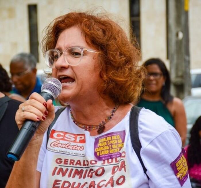Cláudia Ribeiro é a pré-candidata do PSTU à prefeitura do Recife (Divulgação/ PSTU)