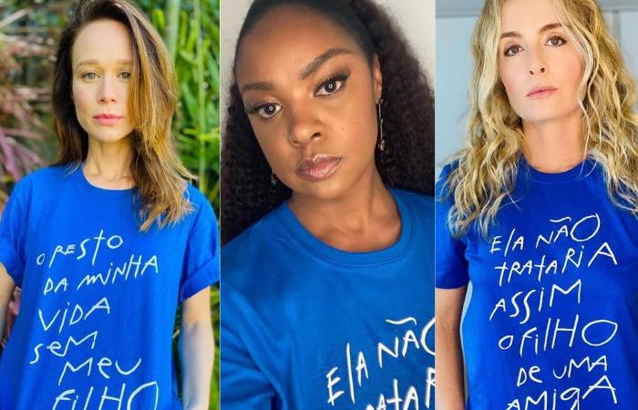 Mariana Ximenes, Cris Vianna e Angélica foram alguns dos nomes que vestiram, literalmente, a camisa da causa (Foto: Reprodução/Instagram)