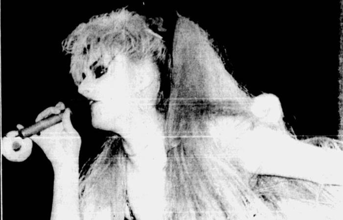 Nina Hagen fez show no Recife em 19 de setembro de 1985 (Foto: Arquivo DP)