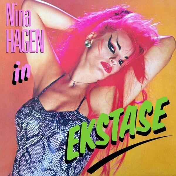 In Ekstase era o álbum de trabalho de Nina Hagen durante a visita ao Recife (Foto: CBS Records/Divulgação)