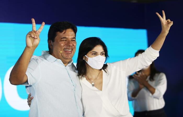 """(Mendonça Filho e Priscila Krause formam chapa """"puro sangue"""" do DEM. Foto: Bruno Campos/Divulgação)"""