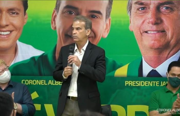 Alberto Feitosa na convenção do PSC (Foto: Reprodução de vídeo)