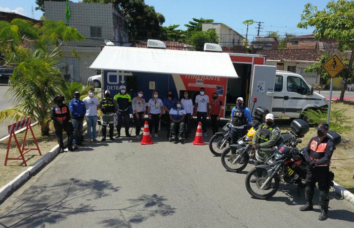 Ações serão realizadas em cidades da Região Metropolitana. Além do Recife, ocorrerão em Ipojuca e Camaragibe. (Foto: Detran-PE/Divulgação)