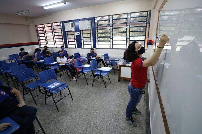 Amazonas foi o primeiro a retomar aulas no país. Foto: Tácio Melo/Secom-AM