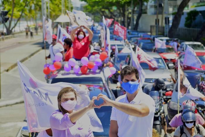 Marília Arraes(PT) e o vice João Arnaldo (Foto: Divulgação)