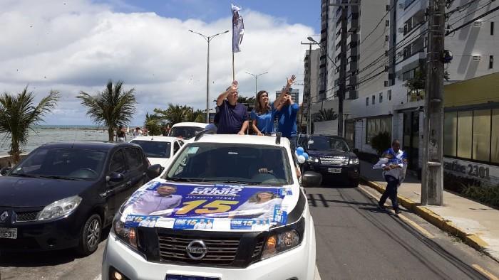 Celso Muniz e sua vice Patrícia Henry. (Foto: Divulgação)