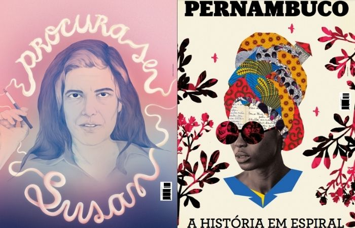 Capas das edições de outubro (esquerda) e junho (direita) de 2019. (Foto: Cepe/Divulgação)