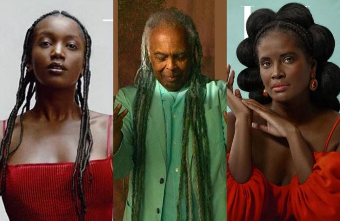 Na estreia, a publicação apresenta quatro opções de capas, com Gilberto Gil, Iza, Djamila Ribeiro e a rapper e ativista Katú Mirim (Foto: Reprodução/Elle Brasil)