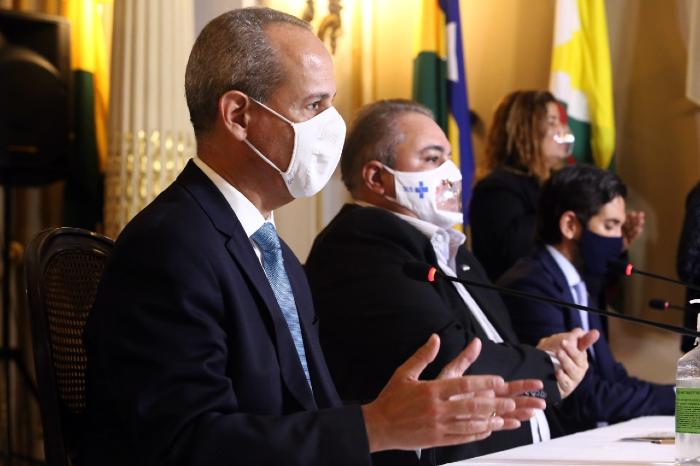 Secretário detalhou retomada em coletiva nesta quarta-feira. (Foto: Aluísio Moreira/SEI/Divulgação)