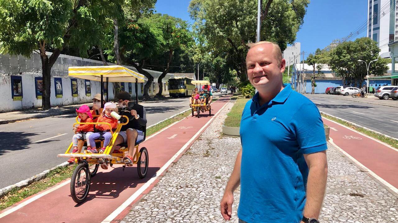 (O guarda municipal Fabiano Ferraz é um dos entusiastas. Foto: Ivaldo Reges/Divulgação)