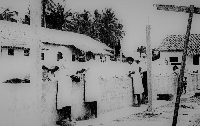 Registro da Vila das Lavadeiras no começo da década de 1940 (Foto: Arquivo da Revista da Cidade)