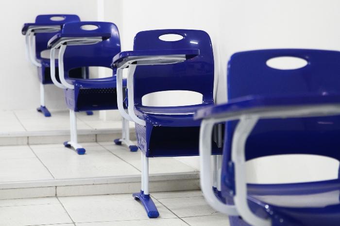 Escolas investiram na readaptação para retomar as atividades.  (Foto: Bruna Costa/Esp. DP)