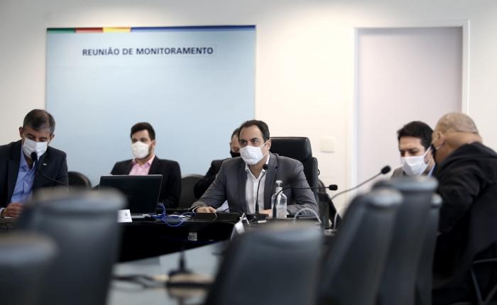 Governador comandou reunião do Pacto pela Vida. (Fotos: Aluísio Moreira/SEI)