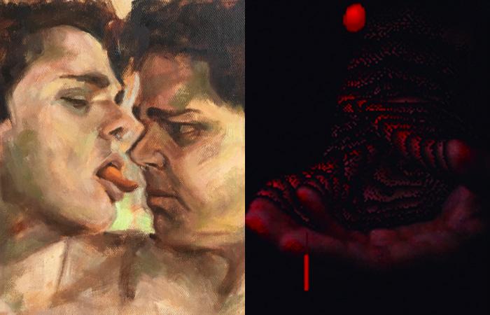 Cada artista produziu três trabalhos e, ao todo, serão 63 expostos e colocados à venda no site e nas redes sociais da Amparo 60 (Fotos: Reprodução/Fefa Lins e biarritzzz)