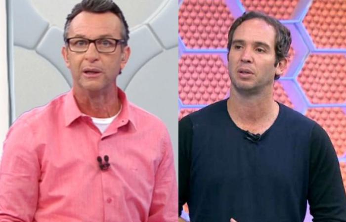 Neto criticou Caio Ribeiro por comentários sobre o caso Robinho (Fotos: Band/Reprodução e Rede Globo/Reprodução )