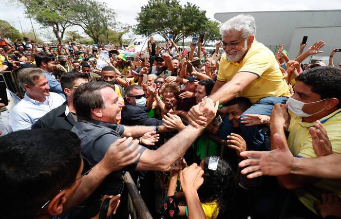 Bolsonaro em sua primeira visita oficial ao Maranhão (Foto: Alan Santos/PR)