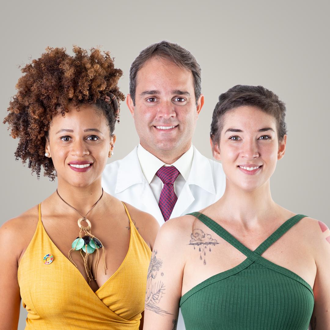 Chapa Ativistas composta por Sylvia Siqueira (E), Bruna Albuquerque (D) e Rodrigo Patriota (C) (Foto: Divulgação)