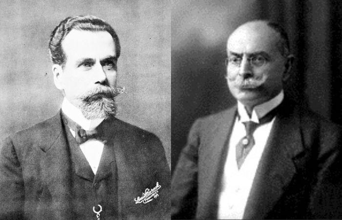 Rosa e Silva (esquerda) e Dantas Barreto (direita), protagonistas do conflito (Foto: Arquivo DP)