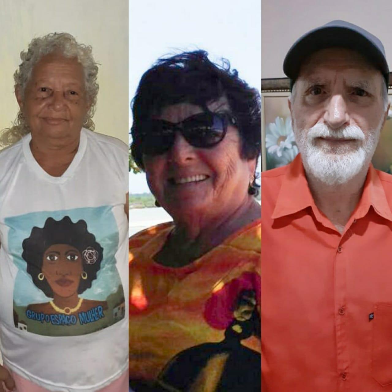 (Da esquerda para a direita, Marina, 72/ Riselda, 70; e Narcizo, 82 (Fotos: Arquivo pessoal))