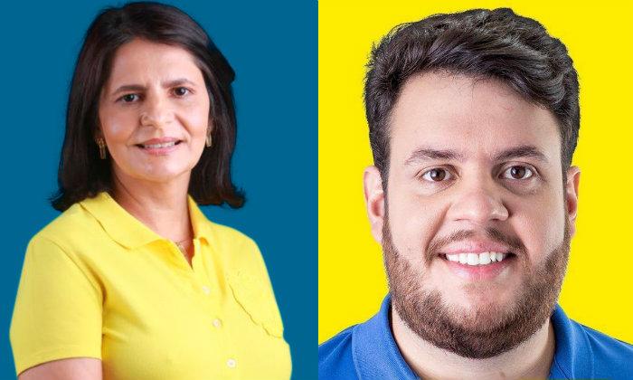 Sandra Paes (DEM), em Canhotinho, e Alvinho Porto (DEM), em Quipapá, estarão a apenas 27 km um do outro a partir do dia 1 de janeiro de 2021. (Foto: Reprodução)