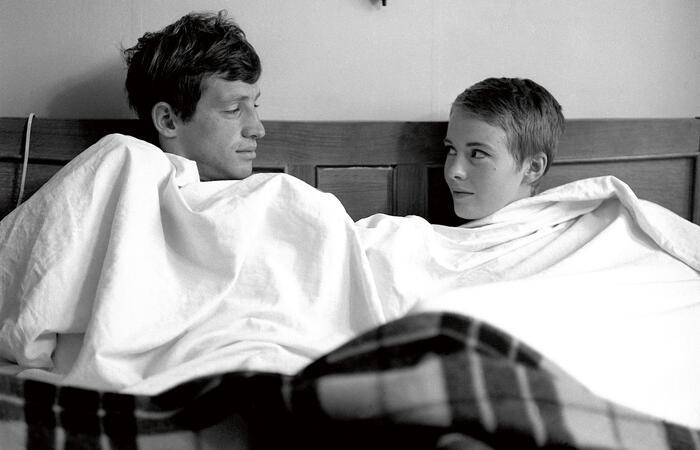 Jean-Paul Belmondo e Jean Seberg. (Foto: Reprodução)