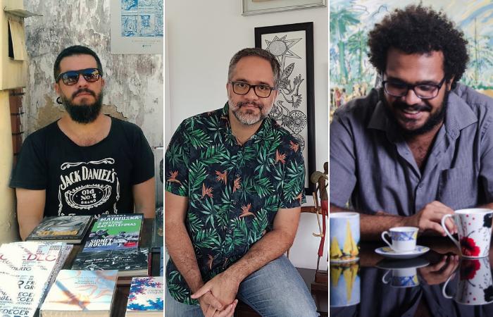 A feira reúne palestras, debates e apresentações do acervo de editora independentes de todo Brasil.  (Foto: Divulgação/Ale Ribeiro/Divulgação/Jan Ribeiro/Secult-PE)