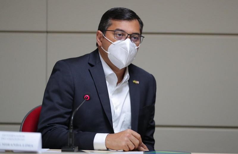 Governador do Amazonas, Wilson Lima (PSC), está suscetível a pagamento de multa de R$ 50 mil em caso de descumprimento (Foto: Diego Peres/Secom AM)