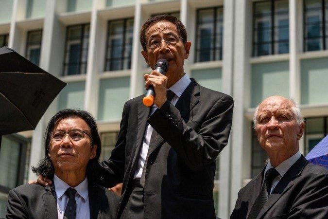 (advogado e ativista Daniel Wong é um dos presos na operação - Foto: AFP / Philip FONG)