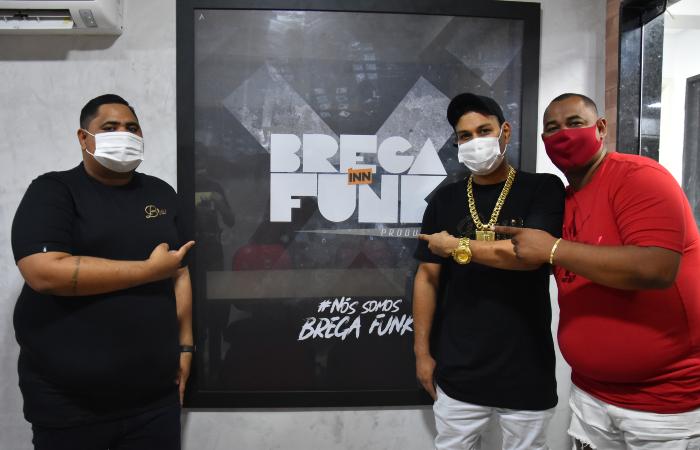 Diego Zika, Júnior Silva e Pepeu Nascimento, sócios da Brega Inn Funk (Foto: André Santos/Divulgação)
